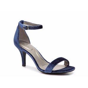 Bandolino Shoes - 💋Bandolino 'Madia' Navy Velvet Kitten Heel Sandal